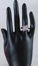 Purple Sapphire Bypass RING Platinum Over Silver (sz 7) TGW 1.0 cts