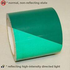 NASTRO ADESIVO RIFLETTENTE RIFRANGENTE VERDE GREEN 50 mm(5cm) x 2Metri