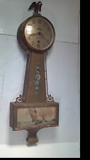 Antique Sessions Hyannis 8 Day Lever Time Banjo Style Wall Clock Key Included
