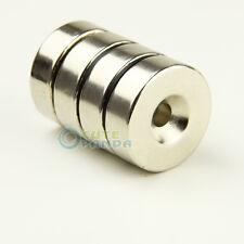 1 x N35 Neodym Ring Magnete 30 mm x 10 mm mit Bohrung 6 mm Loch starke Magnete