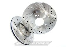 Evo X 2008-2015 Cross Drilled Perofmrance Slotted Brake Rotors Evolution Front