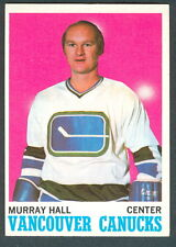 1970 71 TOPPS HOCKEY 118 MURRAY HALL NM VANCOUVER CANUCKS CARD