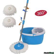 Easy Mop 360° Rotating Roto Mocio Rotante In Microfibra Con Secchio Strizzatore