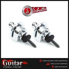 Genuine Schaller Security Guitar Strap Locks Set of 2 - Nickel New