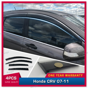 AUS Stainless Steel Weather Shields Weathershields For Honda CRV 07-11 model #T