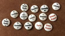 14 Antique Vintage Porcelain Organ Music Stops Buttons German Gilded