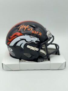 John Lynch Signed Denver Broncos Speed Mini Helmet Helmet HOF 21 COA HOLOG