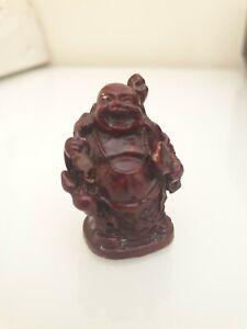 Miniature Dark Red Lucky Buddha