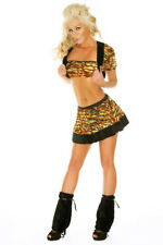 Costume Sexy Kitty Cat Halloween Dress Adult Fancy Women Girl Cosplay Corset