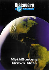 Discovery Channel ~ MythBusters ~ Brown Note ~ DVD ~ FREE Shipping USA