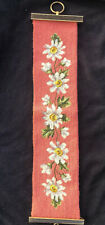 Vintage Needlepoint Bell Pull Wall Hanging