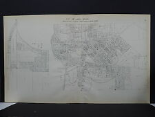 Wisconsin Jefferson County Map 1941 City of Lake Mills Rock Lake Dbl Pg Y16#36