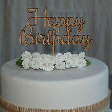 Happy Birthday Cake Topper, Wooden Cake Decoration, Laser Cut Cake Decor #2