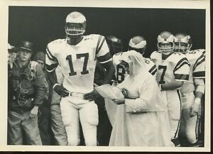 Football NFL 1970's Press Photo 5x7 New York Giants Gene Carmichel Cy Frazier