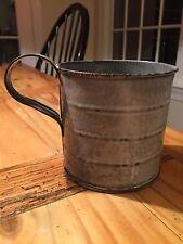 "Antique Agateware Graniteware Enamel Cup 4"""