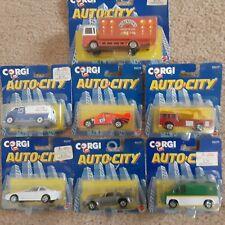 """(lot of 7) Corgi Auto City """"BP"""" Delivery Van BMW 2 Porsches Fire Robinsons Van"""