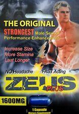 Zeus Plus 1600 Male Herbal Sex Enhancement Supplement (10 Pills)