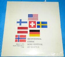 Bicentennial Ethnic Song Festival of Seattle 1976 Alf Knudsen Sealed LP