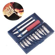 13*Bastelmesser Hobbymesser Kunststoffbox.Skalpell Messer Satz Klingen in bbbg