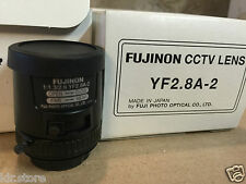 Fuji Fujinon CCTV Camera Lens   Model: YF2.8A-2   1:1.3/2.8  CCTV Lens