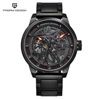 PAGANI DESIGN Waterproof Men Automatic Mechanical Wrist Watch Full Steel Band