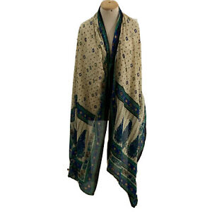 UNBRANDED PAISLEY MULTICOLOR SHAWL POLYESTER Scarf 94/37 In #A37