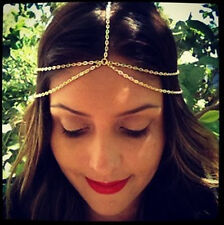 BOHO GOLD MULTI CHAIN. LAYERED HEADBAND HEAD CHAIN JEWELLERY