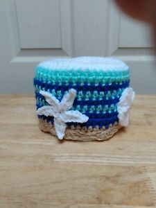 Ocean Waves Toilet Paper Cover Handmade Crochet Bathroom Accessory