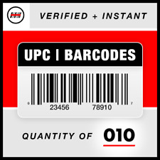 (10) UPC EAN Barcodes Codes Numbers - GS1 - Amazon Verified - Product ID 🔥