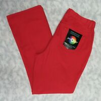 NWT Newport News Jeanology Collection Jeans Size 16 Red