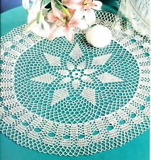 New listing Charming Lovely Lilies/On the Terrace Doilies/Crochet Pattern Instructions Only