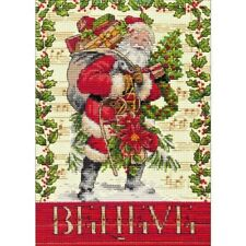Counted Cross Stitch Kit Believe In Santa ~ Christmas Dimensions Gold Collection
