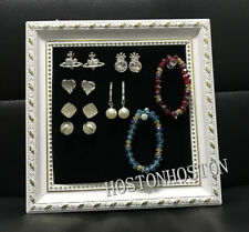 Jewelry Organizer Display Wooden Picture Photo Frame Wall Mount Vintage Showcase
