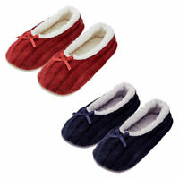 AVON Ladies Womens Ballerina Ballet Knitted Winter Slippers Socks Size 5 6 7 8