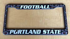 Portland State Football Plastic license plate frame NEW