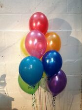 90 Multi Coloured Rainbow Set of Pearlised, Helium Quality Latex Balloons