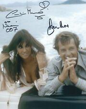 ROGER MOORE & CAROLINE MUNRO SIGNED JAMES BOND 007 8x10 PHOTO - UACC & AFTAL RD