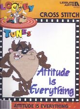 LOONEY TUNES Tasmanian Devil TAZ Attitude is Everything Cross Stitch Kit SEALED