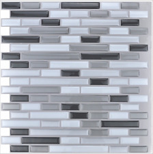 Peel and Stick Mosaic Decorative Wall Tile Kitchen Backsplash Tiles 6 Pack