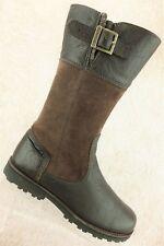 Timberland Brown Suede Side Zipper Tall Boots Girls Kids Size 5