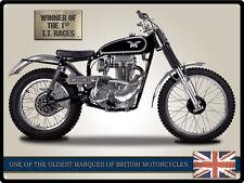 Matchless Gc3 Moto Metal Lata Pared Arte Cartel Placa 30 * 40 Cm 50911