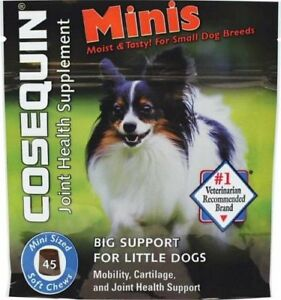 Nutramax Cosequin Joint Health Supplument Mini Soft Chews For Small Dogs 45ct
