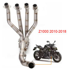 Motorcycle Full Exhaust System Header Front Link Pipe For Kawasaki Z1000 (10-18)