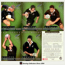 1998 New Zealand Ineda All Black Scratch & Collect Card Set (33)