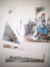 ALLEGORIE Lithographie PATRIOTY Serie Complete 6/6 CARICATURE 1850