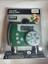 New Sealed Orbit 2-Port Digital Watering Lawn and Garden Timer 56503