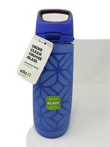 1 Ello Wren Glass Bottle with 1 touch flip lid - 26oz 100% BPA/BPS free