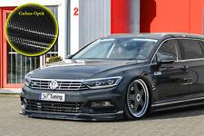 Alerón frontal de cuplippe ABS para VW Passat 3g b8 r-line con Abe carbon óptica