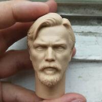 """Blank Hot 1/6 Scale Star Wars III Obi-Wan Kenobi Head Sculpt Unpainted Fit 12"""""""