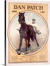 Dan Patch, Horse with Wonderful World Canvas Wall Art Print, Horse Home Decor
